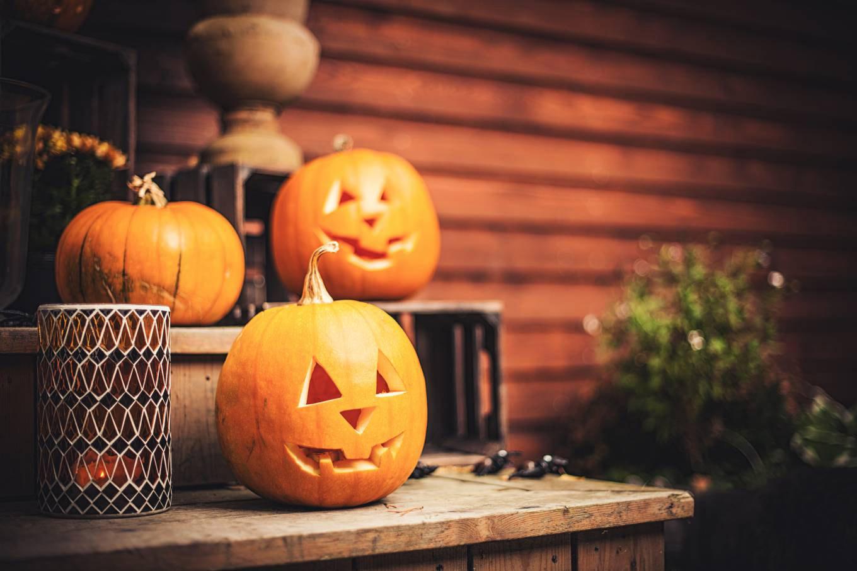 Las calabazas nos ayudan a decorar la casa en halloween