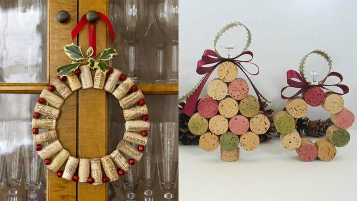 decora tu hogar con corcho en Navidad
