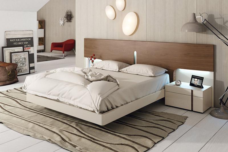 dormitorio moderno con cama con aro
