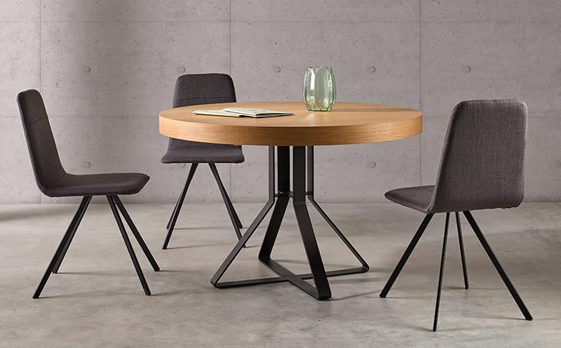 Mesa de estilo industrial redonda