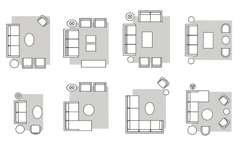 Distribución de sala de estar