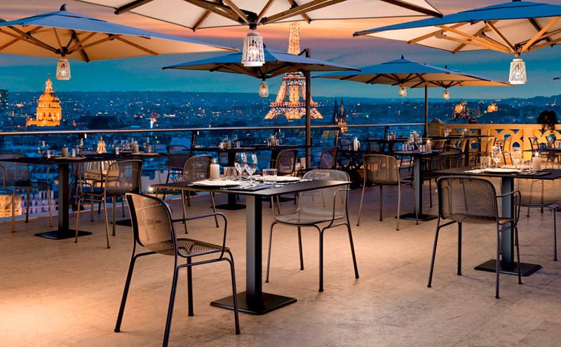 Muebles de terraza minimalista