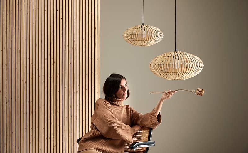 Lámpara colgante Anya diseñada por Aromas