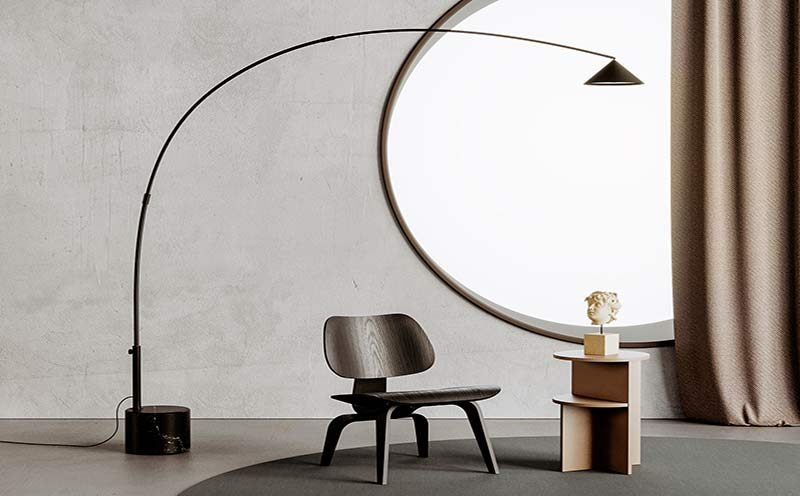 Lámpara de pie Hinoo diseñada por Aromas