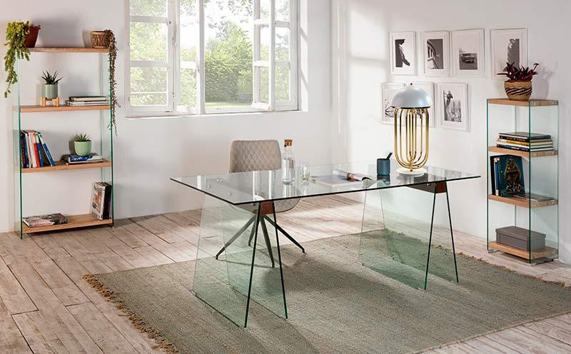 mesa de escritorio cristal templado