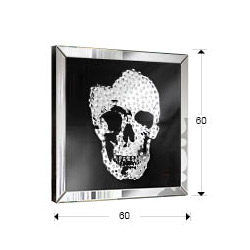 comprar online cuadro espejo skull