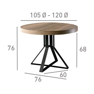mesa de comedor milo