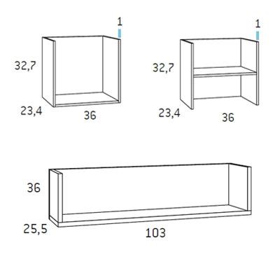 dormitorio juvenil gliceo F408 detalle 2