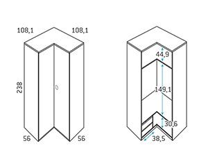 Composicion juvenil armario rinconero