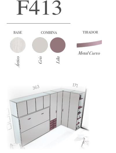 Composicion dormitorio juvenil F413