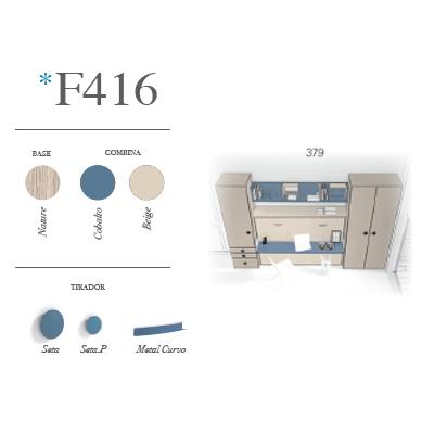 composicion de dormitorio juvenil F416 miniatura