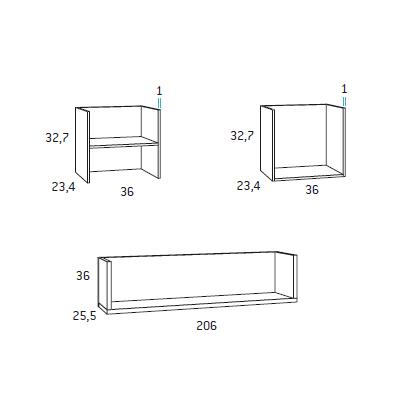 Composicion estanteria muebles juveniles