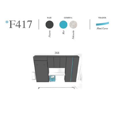 composicion de dormitorio juvenil F417 miniatura