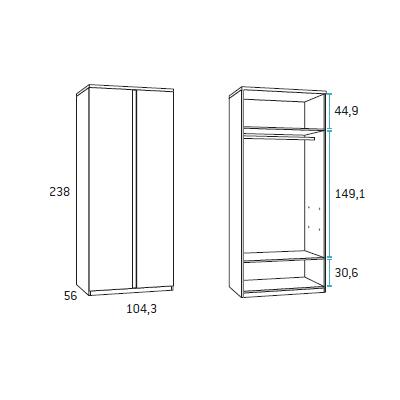 composicion de dormitorio juvenil F417 detalle 4