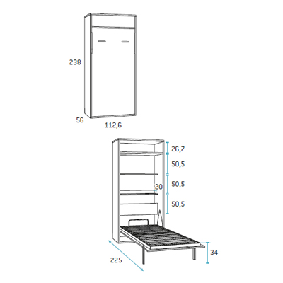 composicion de dormitorio juvenil F417 detalle 3
