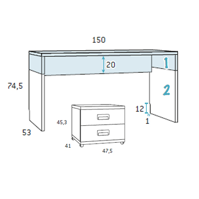 Composicion muebles juveniles de glicerio chaves