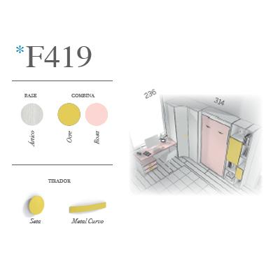 Dormitorio juvenil F419 Glicerio Chaves en Muebles Lara