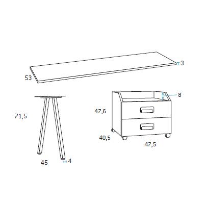 Mesa escritorio dormitorio juvenil