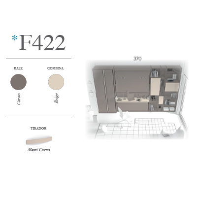 composicion de dormitorio juvenil F420 minuatura