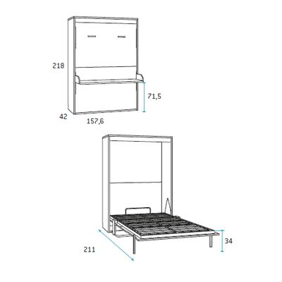 composicion de dormitorio juvenil F422 detalle 3