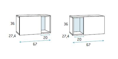 Composicion para zona de estudio dormitorio juvenil F423