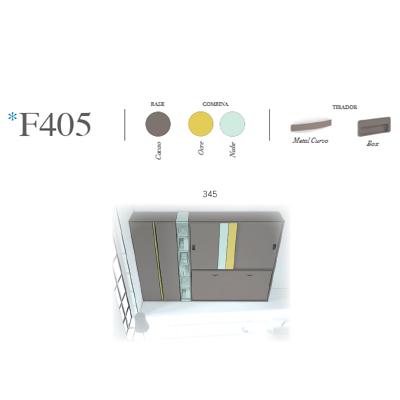 composicion de dormitorio juvenil F405 detalle