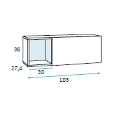 dormitorio juvenil compacto F007 detalle 3