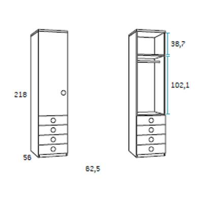 dormitorio juvenil F009 detalle 4