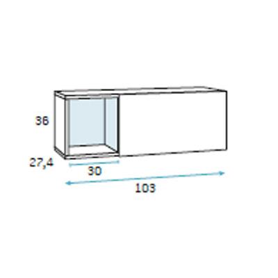 dormitorio juvenil compacto F009 detalle 3