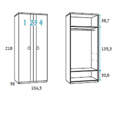 dormitorio compacto juvenil detalle 9