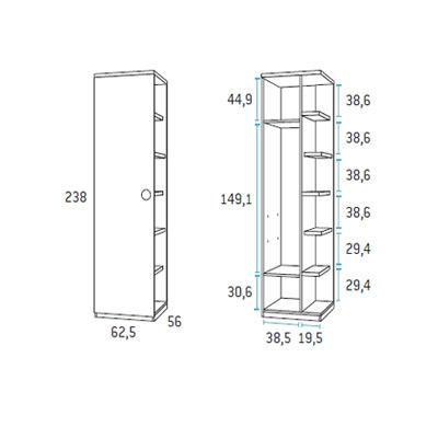 dormitorio nido juvenil F103 detalle 5